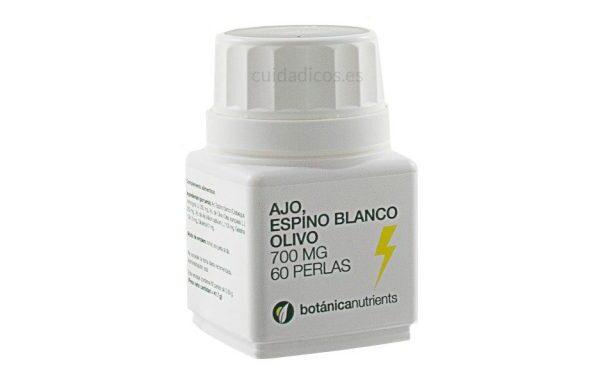 AJO, ESPINO BLANCO, OLIVO 60 Perlas 700mg de Botánica Nutrients
