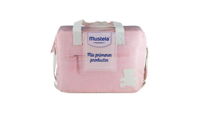 bolso mis primeros productos mustela rosa